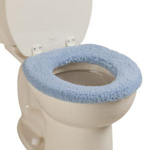 plush toilet seat