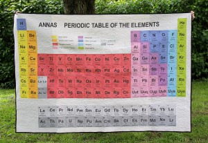 Periodic Table Quilt - Front