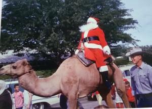 Santa riding a camel