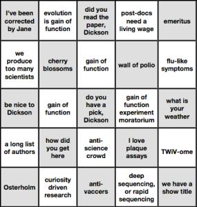 TWiV Bingo card 2