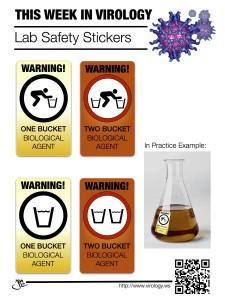 bucket lab stickers