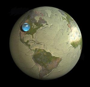 global water volume
